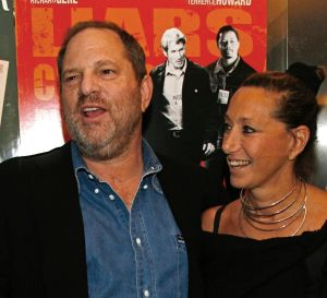Harvey Weinstein and Donna Karan arrive at the premiere of The Hunting Party at the Paris Theater in New York.