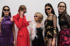 Carla Zampatti surrounded by models at her winter 2018 collection and the launch of her collaboration with Specsavers on ...