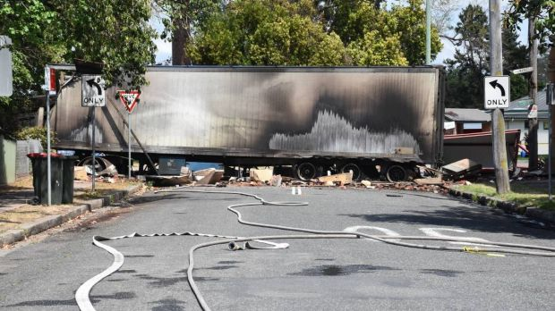 The semi-trailer, carrying mushroom compost, was allegedly stolen while the driver paid for petrol.