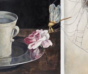 Campbell's Still Life with Dragonfly.