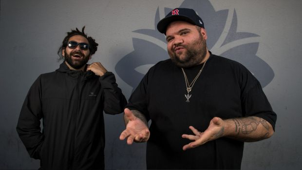 Australian Hiphop duo A.B. Original after winning the AMP (Australian music prize). They are Trials a Ngarrindjeri man ...