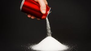 Soft drinks are particularly high in sugar.