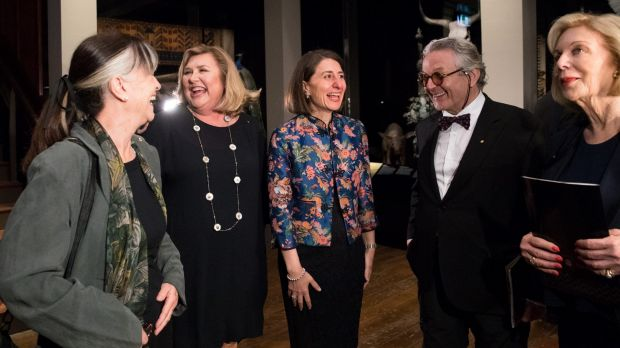 Australian Museum director Kim McKay (second from left) with Gabi Hollows, Premier Gladys Berejiklian, George Miller and ...