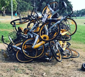 Share bikes have flooded the market - and been the target of vandalism.