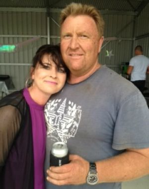 'Beautiful bloke': Fell Swoop owner Bec Barnes with late husband Rob Barnes.