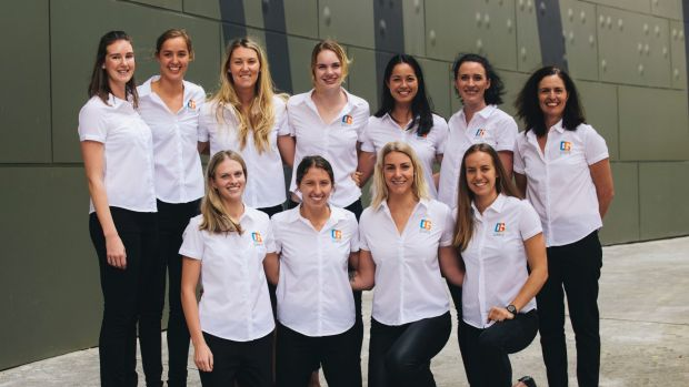 The inaugural Canberra Giants netball squad.