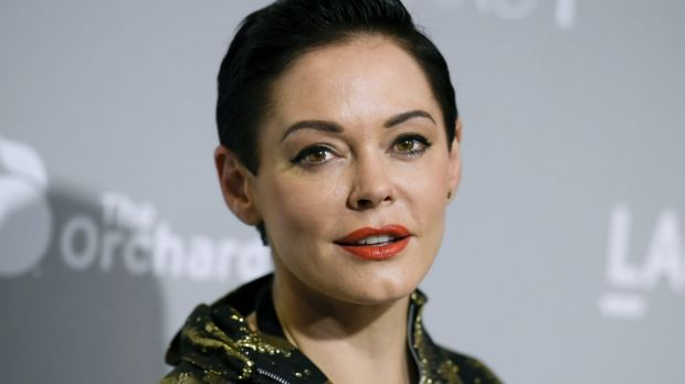 Actor Rose McGowan had her Twitter account briefly suspended.