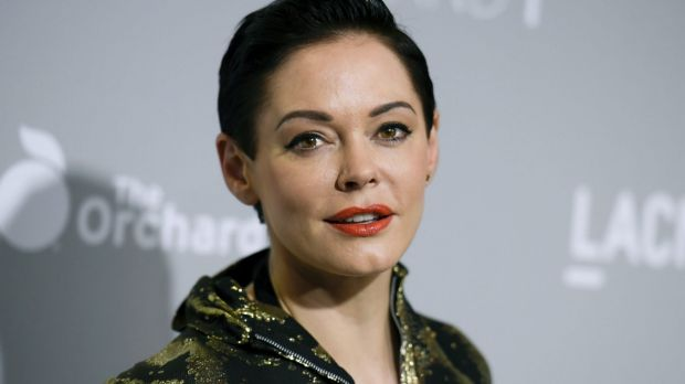 "FILE - In this April 15, 2015 file photo, Rose McGowan arrives at the LA Premiere Of ""DIOR & I"" held at the Leo S. Bing ..."