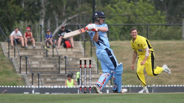 Fast start: Nic Maddinson scored 86 from 89 to anchor the innings.