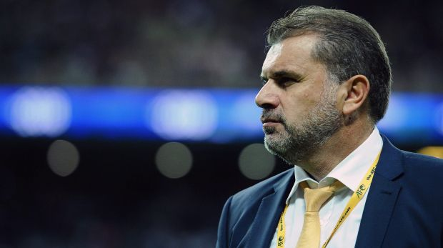 Controversial: Socceroos coach Ange Postecoglou was the centre of a storm this week.