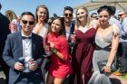Punters enjoying a day out at the 2017 Caulfield Guineas.