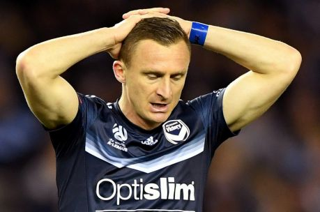 Besart Berisha during Melbourne Victory's loss to Melbourne City last weekend.