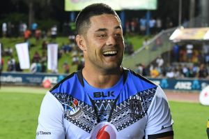 American dream? Hayne is currently training with the Fiji world cup squad.
