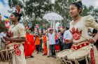 A cultural pageant at the Sri Lankan Buddhist Temple in Kambah where the Katina Cheevara (a special ceremonial robe) is ...