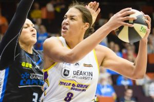 Melbourne centre Liz Cambage proved too strong for the Capitals.