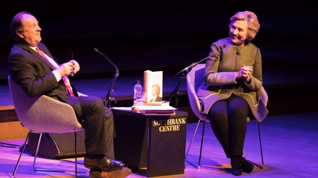 Hillary Clinton talks to James Naughtie at the London Literature Festival about her new book and women's rights