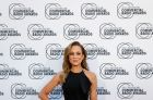 Carrie Bickmore arrives at the Australian Commercial Radio Awards at the Melbourne Convention and Exhibition Centre, ...