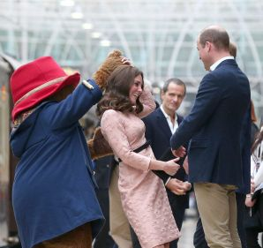Duchess of Cambridge at an event at London's Paddington Station.