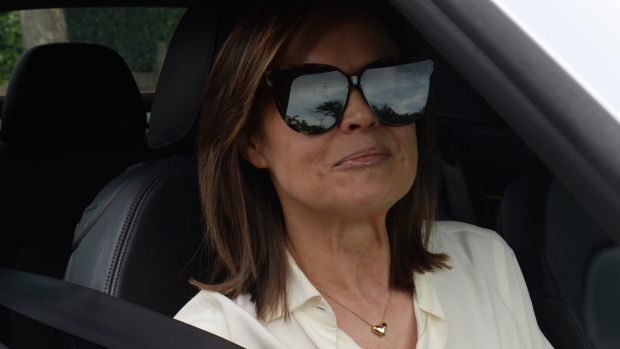 Lisa Wilkinson leaves her Neutral Bay house. She has just left Channel Nine (9) for Channel Ten (10). Pic by Nick Moir ...