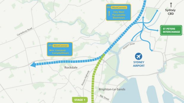 The first section of the F6 extension will link the WestConnex toll road at Arncliffe to President Avenue at Kogarah in ...