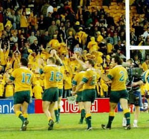 Time gone by: Australian rugby used to be able to rely on a 16th man in the stands.