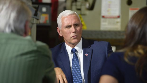Vice-President Mike Pence on a visit to California last week to raise money for endangered Republican congressional ...