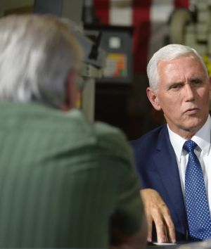 Vice President Mike Pence on a visit to California last week y to raise money for endangered Republican congressional ...