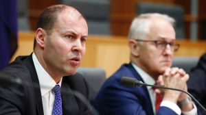 Minister for Environment and Energy Josh Frydenberg and Prime Minister Malcolm Turnbull as they unveiled the National ...