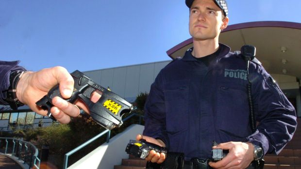 There was a 14 per cent increase in the use of Tasers  in 2016-17. (file photo)