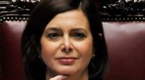 Laura Boldrini, the president of the Italian lower house of Parliament.