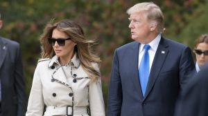 Pictures of Melania in sunglasses were the source of a strange Internet rumour that the US first lady was using a body ...
