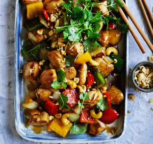 Adam Liaw's chicken with cashew nuts.