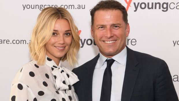 Karl Stefanovic was expected at the Caulfield Cup with his girlfriend Jasmine Yarbrough.