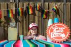 Lexie Rudman, 8, sells lemonade for a dollar a cup on the Garage Sale Trail, at Union Lane in Newtown on 21 October, ...