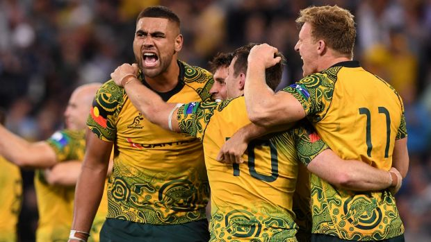 Rugby Australia are in talks to decide where the Wallabies will wear the indigenous jersey this year.