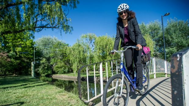 Bella Molloy of Barton is one of the many Canberrans using alternatives to cars to get to work.