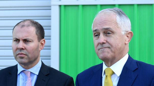Prime Minister Malcolm Turnbull (right) and Energy Minister Josh Frydenberg are trying to ramp up pressure on the states ...