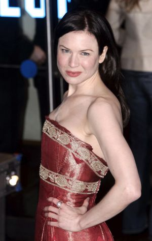 "In this November 9, 2004 photo, actress Renee Zellweger wears a Marchesa dress at the premiere of her film ""Bridget ..."