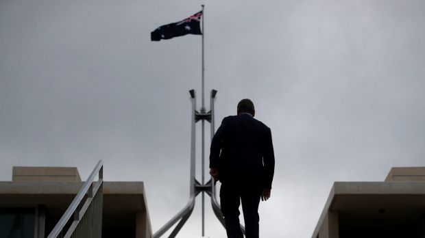 Deputy Prime Minister Barnaby Joyce walking to at Parliament House on Thursday.