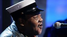 """FILE - In this Nov. 9, 2007 file photo, music legend Fats Domino performs on the NBC """"Today"""" television show in New ..."""