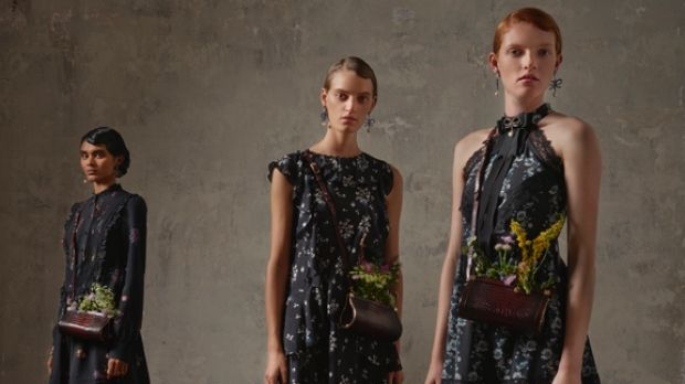 A campaign image from the Erdem x H7M collaboration.