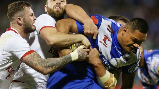 Canberra Raiders centre Joey Leilua is playing for Samoa in the World Cup.