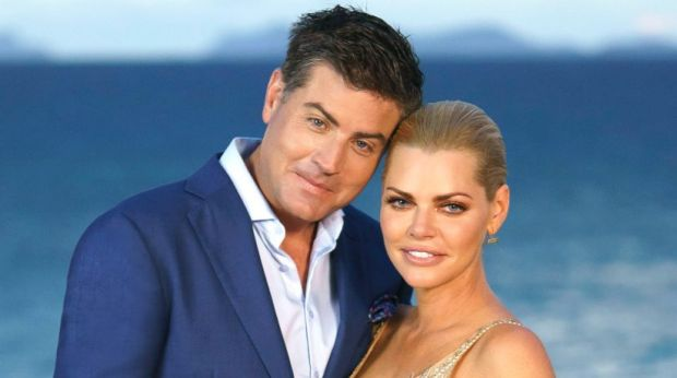 Sophie Monk with Stu Laundy during <i>The Bachelorette</i> finale.