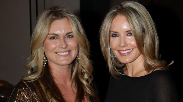 Tracey Schofield (left) and Tiffany Tilley at the Gold Dinner in June 2011.