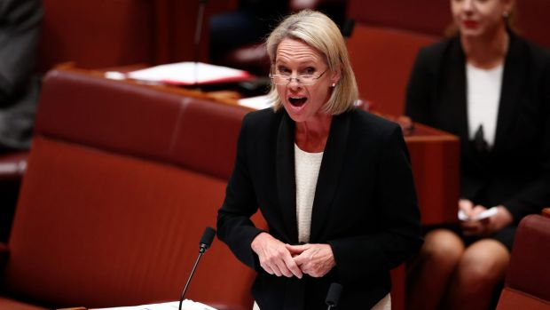 Fiona Nash during Question Time in the Senate.