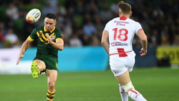 Mixed night with the boot: Cronk puts up a bomb against England.