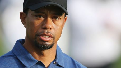 Long layoff: Tiger Woods in Dubai in February - he has not played since due to injury.