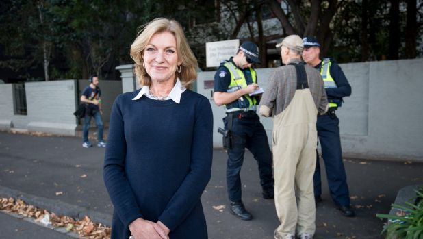 MP Fiona Patten was integral to the introduction of the safe access zone laws in Victoria. She's pictured here on the ...