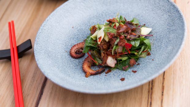 Char-grilled octopus salad.