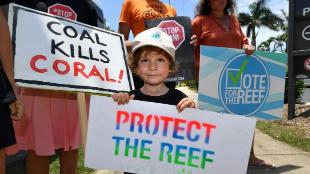 Adani protesters heckled Queensland Premier Annastacia Palaszczuk on the campaign trail for the Queensland state election.